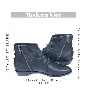 Modern Vice Shoes - Modern Vice Classic Jett Black Boots NEW